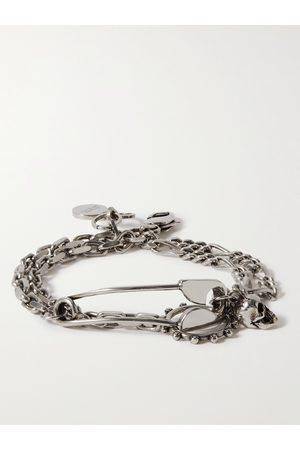 Alexander McQueen Burnished -Tone Wrap Bracelet