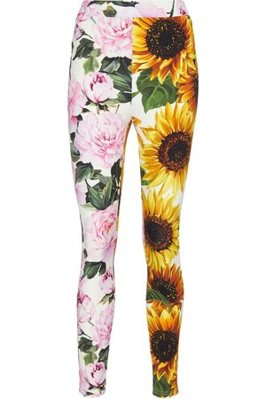 Dolce & Gabbana Floral stretch-jersey leggings
