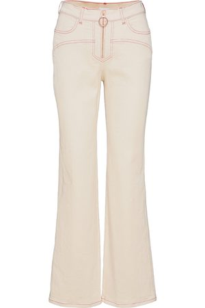 See by Chloé Trousers Jeans Utsvängda Creme