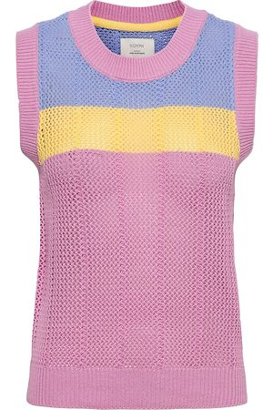 Numph Nucherry Vest Vests Knitted Vests Rosa