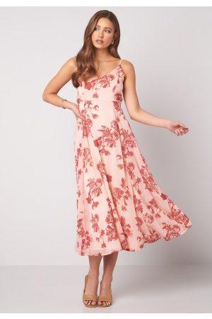 BUBBLEROOM Alana tie back dress Pink / Red 34