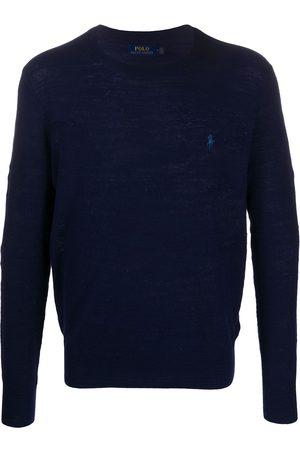Polo Ralph Lauren Man Stickade tröjor - Stickad tröja med broderad logotyp