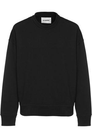 Jil Sander Man Sweatshirts - Logo Embroidered Cotton Sweatshirt