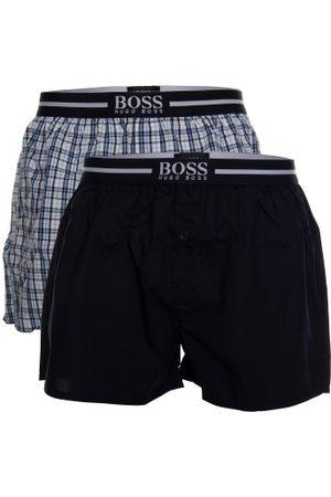 HUGO BOSS BOSS Woven Boxer Shorts With Fly Kalsonger 2P Mörkblå bomull Large Herr