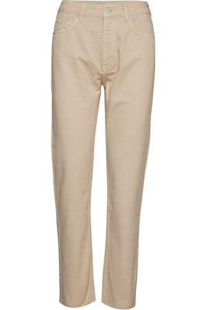 Envii Kvinna Straight - Enbrenda Jeans Cut 6522 Raka Jeans Beige