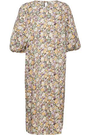 Object Kvinna Mönstrade klänningar - Objjasia 3/4 Midi Dress 114 Dresses Everyday Dresses Multi/mönstrad