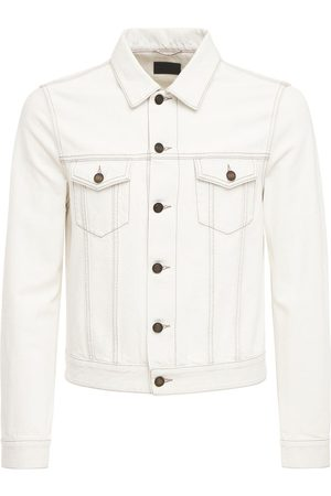 Saint Laurent Man Jeansjackor - Fitted Denim Cotton Jacket