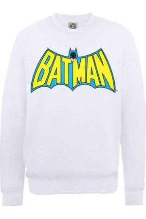DC Herr DC0000586 officiell Batman retro logga rund hals långärmad tröja