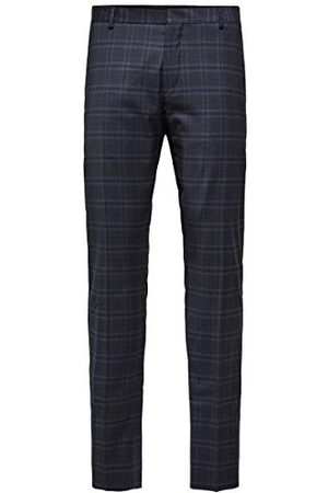 Selected Herr Slhslim-mylocreed Navy Check TRS B Noos kostymbyxor