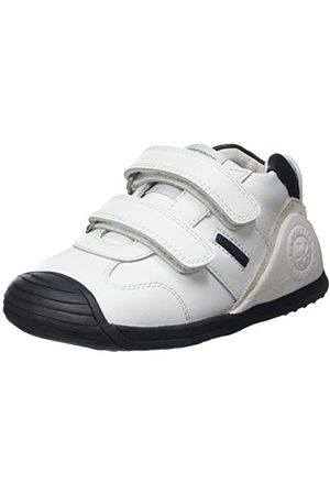 Biomecanics Baby-pojkar 151157 Sneaker, Vitt och blått supermjukt19 EU