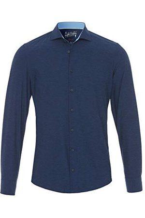 Pure Herr 3393-21750 funktionell långärmad skjorta, uni mörkblå, 43