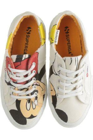 Superga Unisex-barn 2750-Disney Topolino COBJ Sneaker, Weiss Topolino vit28 EU