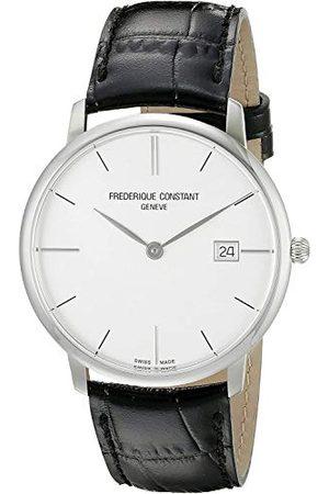 Frederique Constant Herr analog kvartsklocka med läderrem FC-220S5S6