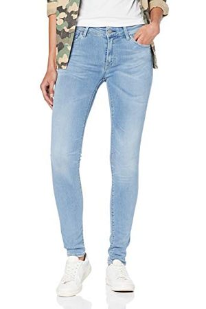 Replay Dam LUZ HIGH Waist jeans, (Super Light Blue 11), No Aplica/L30 (tillverkarstorlek: 27)