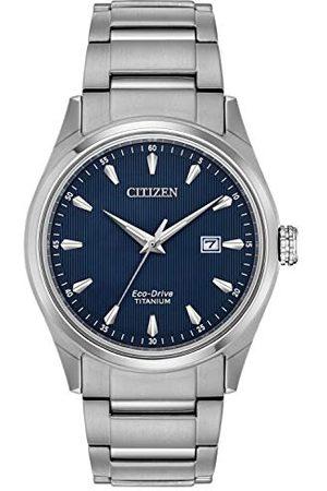 Citizen Herr datum klassisk solklocka med titan armband BM7360-82L
