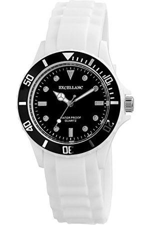 Excellanc Unisex analog kvartsklocka med gummi armband 22492100003