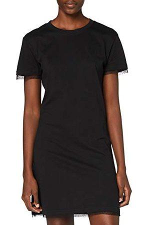 Urban classics Dam Ladies Boxy Lace Hem teklänning klänning