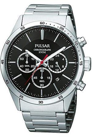 Pulsar Herr armbandsur Chronograph PT3005X1 av rostfritt stål