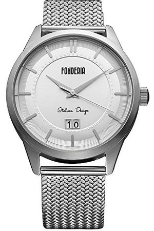 Fonderia Herr analog kvarts smartklocka armbandsur med rostfritt stål armband P-8A010US1
