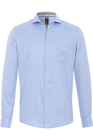 Pure Herr 4034-462 City Black lång ärm klassisk skjorta, Uni ljusblå, S