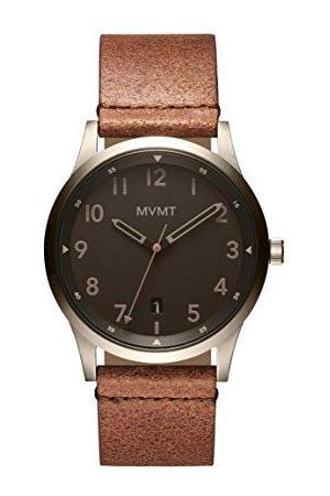 MVMT Herr analog kvartsklocka med läderrem 28000065-D