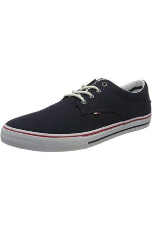 Tommy Hilfiger Herr Tommy jeans textil sneaker, Svart12 UK