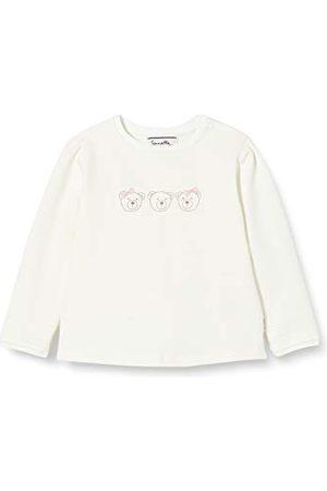 Sanetta Baby-flicka femsju elfenbensflicka hård tröja i off-white feftyseven med ett sött teddy-konstverk