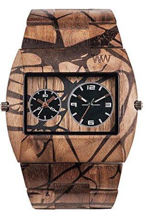 WeWood Herr analog kvarts smartklocka armbandsur med träarmband WW40005