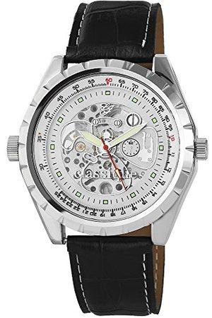 Classique Klassisk herr analog kvartsklocka med läderarmband RP700220004