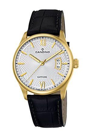 Candino Herr analog klassisk kvartsklocka med läderrem C4693/1