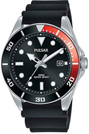 Seiko UK Limited - EU Mäns analog japansk kvarts pulsar dykare inspirerad klänning klocka med silikonrem med silikonrem PG8297X1