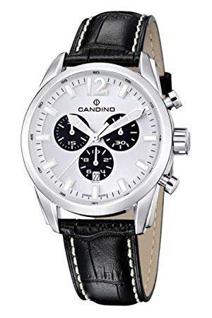 Candino Herr kronograf kvartsur med läderrem C4408/A