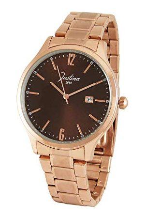 JUSTINA Herr analog kvartsklocka med rostfritt stål armband 13740M