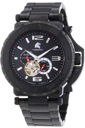 Carucci Watches herrarmbandsur XL analog automatisk rostfritt stål CA2199BK-BK