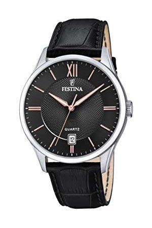 Festina Herr analog kvartsklocka med läderarmband F20426/6