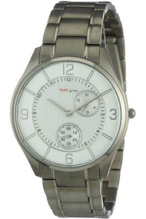 Pure Grey Äkta grå klockor herr kvartsur 1671.90.91 med metallrem