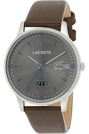 Lacoste Herr analog kvartsklocka med läder-vadskinn rem 2011033