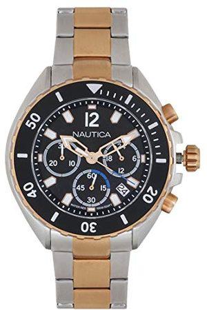 Nautica Herr analog kvartsklocka med rostfritt stål armband NAPNWP006