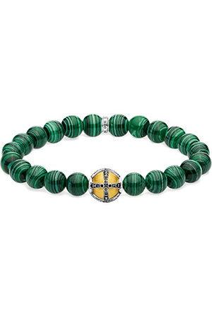 Thomas Sabo Unisex-armband kors grön 925 sterlingsilver gult förgyllt A1930-555-6-L19,5