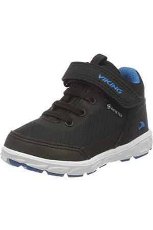Viking Unisex barnspektrum R Mid GTX hög sneaker, Blue 235-30 EU
