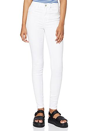 Only NOS Kvinnor Onlroyal Hw Sk vita noos-jeans, 38 W/32 L