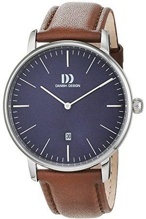 Danish Design Dansk design herr analog kvartsklocka med läderarmband 3314540