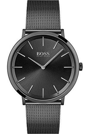 HUGO BOSS Herr analog kvartsklocka med rostfritt stålrem 1513826