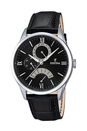 Festina Herr analog kvartsklocka med läderarmband F16823/2