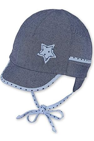 Sterntaler Stjärntaler baby-pojkar skärmmössa bindband, öronlappar och punktmönster på kanten, band och stjärnmotiv mössa
