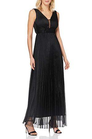 Apart Dam Apart elegant, aftonklänning, metallisk glans, V-ringning med nät, Empire-stil klänning för speciella tillfällen