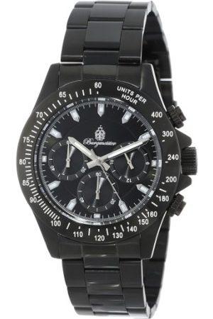 Burgmeister Houston kvartsklocka för män med urtavla kronograf display och rostfritt stål pläterat armband BM212-622A