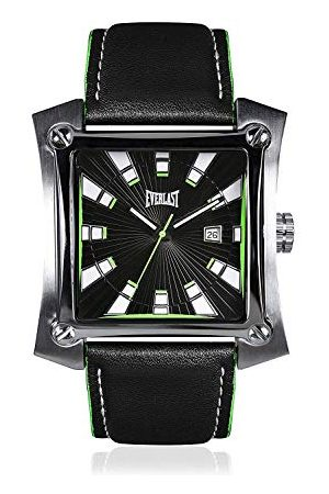 Everlast Unisex vuxen analog kvartsklocka med läderrem EVER33-207-003