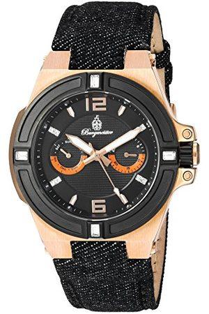 Burgmeister Kvartsklocka för män med urtavla analog display och tyg och kanvas armband BM220-922-1