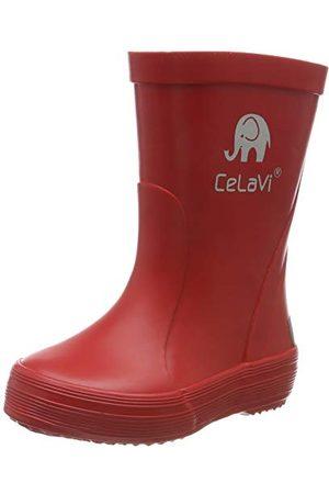CeLaVi Unisex barn gummistövlar regn stövel, Roth30 EU